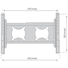 "TVS-KN-FSB115B, 100 x 100,200 x 100,200 x 200 mm, Nero, Acciaio, 584,2 - 939,8 mm (23 - 37"")"