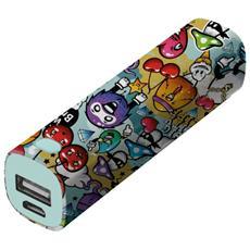 Tag Powerstick Caricatore portatile 2600 mAh - Graffiti Objects