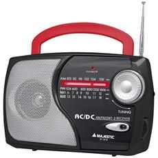 Radio Portatile Multibanda Con Alimentazione A Batterie O Corrente