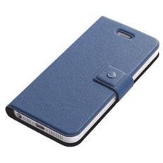Copertura in Pelle per iPhone 5 Blu Scuro F01-BL-IP5