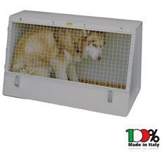Auto box trasportino in acciaio zincato 93x49 cm cuccia cane cani gatti animali