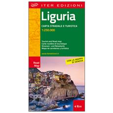 Liguria. Carta stradale e turistica 1.250.000