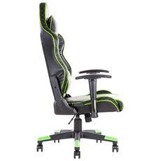 Sedia Gaming Taurus E1 Colore Nero Verde
