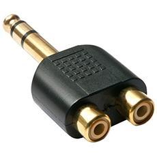 35623 2 x RCA 6.3mm Nero cavo di interfaccia e adattatore