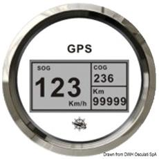 Log con bussola GPS nero / lucida