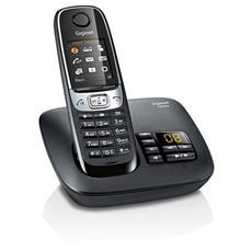 """C620A Cordless con display 1,8"""" rubrica 250 nomi e segreteria telefonica, funzione baby monitor - Nero"""
