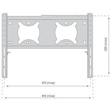 "TVS-KN-FSB112B, 200 x 200,400 x 200 mm, Nero, Acciaio, 660,4 - 939,8 mm (26 - 37"")"