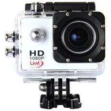 Actioncam Hd Lkm 1080p Impermeabile Con Slot Microsd E Micro Usb Per Riprese Sportive E Professionali Colore Bianco