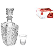 Servizio 7 Pezzi Liquore Vetro Dedalo Calici Vino Bicchieri Tavola