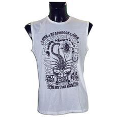 T-shirt Smanicata Beach Rock S Bianco