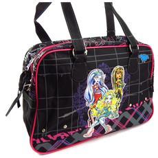 borsa borse di tipo cabas / shopping '' nero rosa - [ k4253]