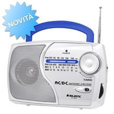 Radio Portatile Multibanda A Batterie Bianco