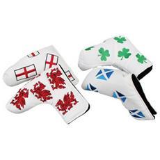 S Golf Headkase Flag Putter Cover Irlanda Bianco / verde