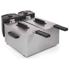 Double Fryer Friggitrice Doppia 2x3 Litri Colore Silver