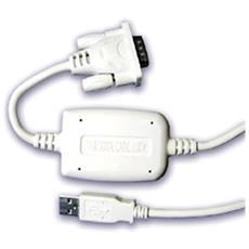 UAS111-BLACK, USB 1.1, DB9M, Maschio, Nero, 1,8m