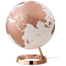 Mappamondo Luminoso L&c Bright Metal Copper, Rame