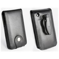 Custodia in pelle e clip per cintura per Apple iPhone 3G / 3GS, Nero