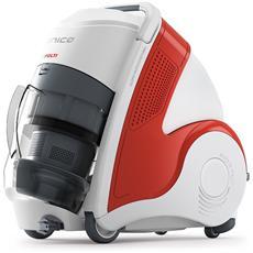 MCV50 Unico Allergy Multifloor Turbo Senza Sacco Potenza 2200 Watt Capacità 0.8 Litro Filtro HEPA Colore Bianco / Rosso