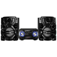 Sistema Mini Hi-Fi AKX660 Lettore CD Supporto MP3 Potenza Totale 1700W Bluetooth USB