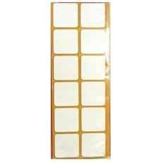 Feltrini Adesivi Forma Quadrata Busta Da 4pz (35x35, Bianco)