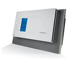 Sistema Micro Hi-Fi BT 1000 DAB+ Potenza 3.1 W Colore Argento