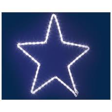 Stella In Tubo Luminoso 60cm Luci Natale Addobbi