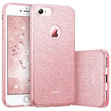 Sgs Cover Iphone 7 Glitter Gold E Rosa - Rosa