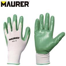 Paio di guanti da lavoro tessuto nitrile fodera in nylon Tg 8