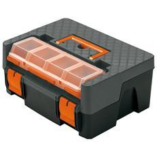 Cassetta portautensili in plastica con portaminuteria cm 38x29,5xH 17