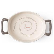 Pirofila Ovale Batticuore Tortora Stoneware Proverbi