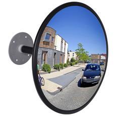 Specchio Per Il Traffico Convesso Nero Acrilico Interni 30 Cm