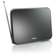 Antenna Amplificata 40 db 12/220 Hd TV-UHT-VHF-FM Colore Nero