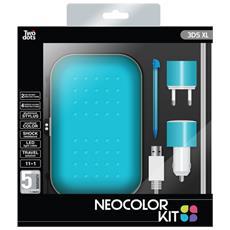 Kit 4 Accessori Neocolor Blu per 3DS XL