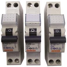 Interruttore Magnetotermico Automatico 1p+N 16a 4,5ka