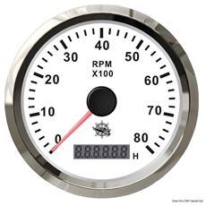 Contagiri 0-8000 RPM bianco / lucida