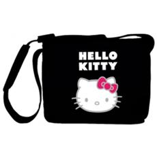 "*Hello Kitty Borsa Pc 11"" Messenger Nylon Nero"