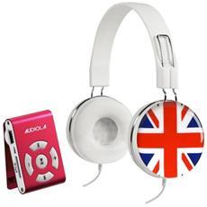 Sdb8811cf Uk Lettore Mp3 Microsd 8gb Con Cuffie Stereo Controllo Volume