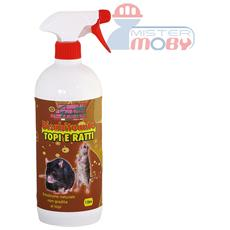 Repellente disabituante allontana anti ratti topi prodotto spray naturale 500ml