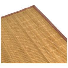 Tappeto Bamboo Cm60x180 Con Listelle Piccole Tinta Naturale