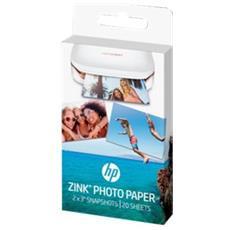 HP - Carta Fotografica con finitura Lucida 50 x 76 mm...