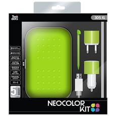 Kit 4 Accessori Neocolor Green per 3DS XL