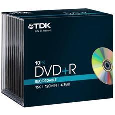 DVD TDK - Slim case - DVD+R - 16X - t19447 (conf. 10)