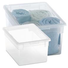 Contenitore Home Storage Light box m / 2 contenitore armadio L19,5 x P28 x H13,2