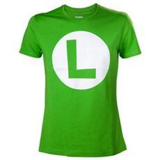 Nintendo - Luigi With Logo Green (T-Shirt Unisex Tg. L)