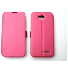 Lg D405 L90 Custodia Bag Case Libro Book Pocket Colore Fucsia