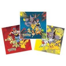 Set 3 Cuscini Pokemon 40 X 40 Cm