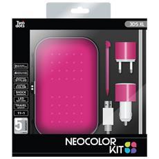 Kit 4 Accessori Neocolor Pink per 3DS XL