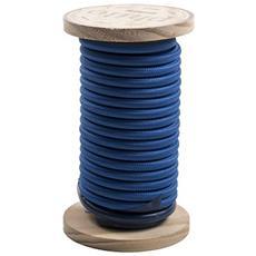 Filo elettrico in bobina PHILO ricoperto in cotone Lunghezza 5 mt Colore Blu