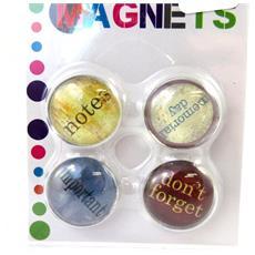 set di 4 magneti 'to do list' multicolori - [ l7749]