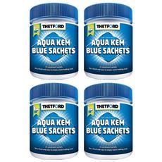 4 Confezioni Aqua Kem Sachets Da 15+3 Pratiche Bustine Per Serbatoio Acque Nere Wc Camper